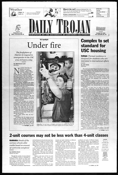 Daily Trojan, Vol. 138, No. 29, October 11, 1999