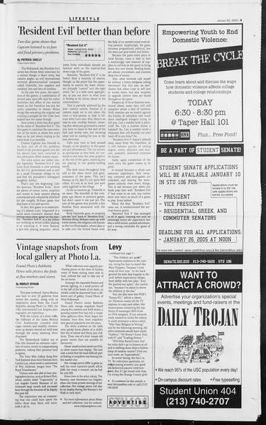 Daily Trojan, Vol. 154, No. 10, January 26, 2005
