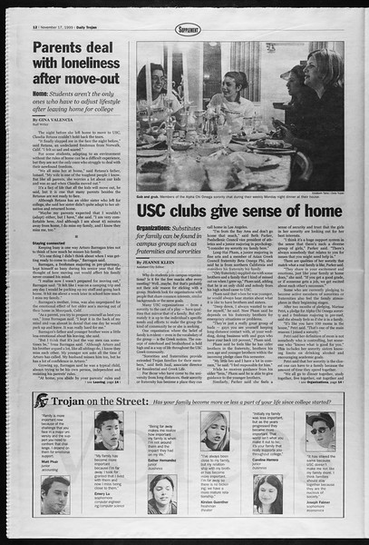 Daily Trojan, Vol. 138, No. 55, November 17, 1999