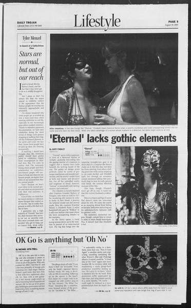Daily Trojan, Vol. 156, No. 7, August 30, 2005