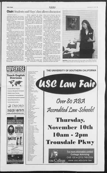 Daily Trojan, Vol. 156, No. 55, November 08, 2005