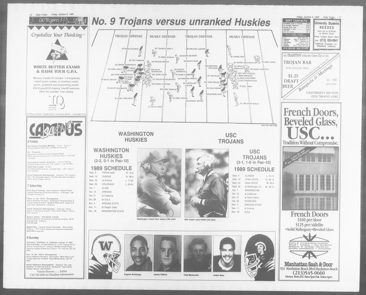 Daily Trojan, Vol. 110, No. 24, October 06, 1989