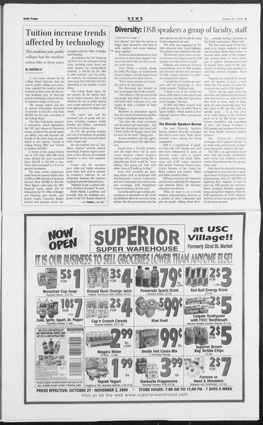 Daily Trojan, Vol. 156, No. 47, October 27, 2005