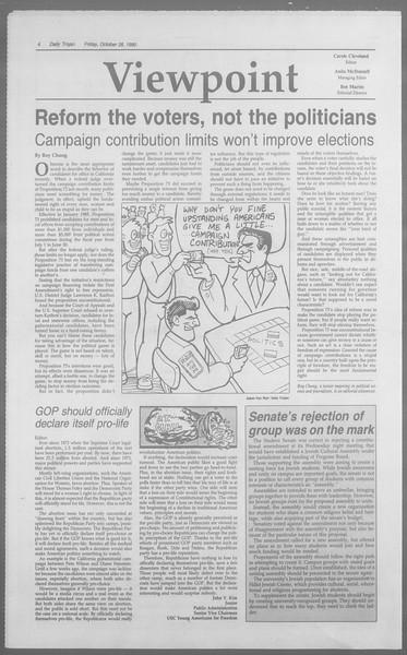 Daily Trojan, Vol. 113, No. 38, October 26, 1990
