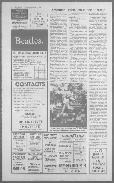 Daily Trojan, Vol. 113, No. 45, November 06, 1990