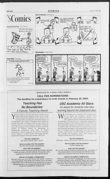 Daily Trojan, Vol. 154, No. 19, February 08, 2005