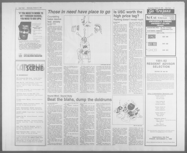 Daily Trojan, Vol. 113, No. 36, October 24, 1990