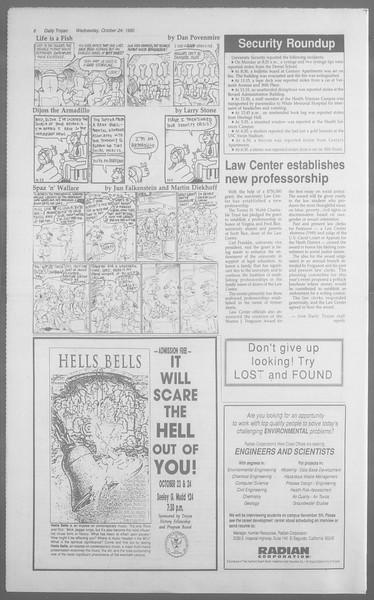 Daily Trojan, Vol. 113, No. 36, October 24, 1990