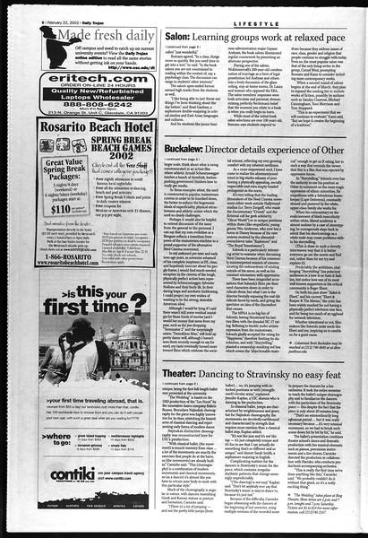 Daily Trojan, Vol. 145, No. 30, February 22, 2002