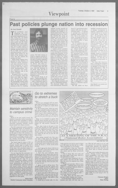 Daily Trojan, Vol. 113, No. 21, October 02, 1990