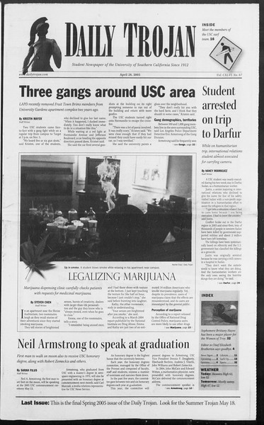 Daily Trojan, Vol. 154, No. 67, April 28, 2005