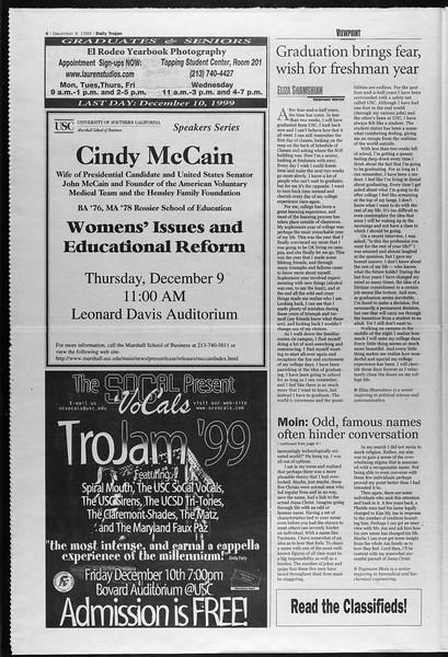 Daily Trojan, Vol. 138, No. 66, December 08, 1999
