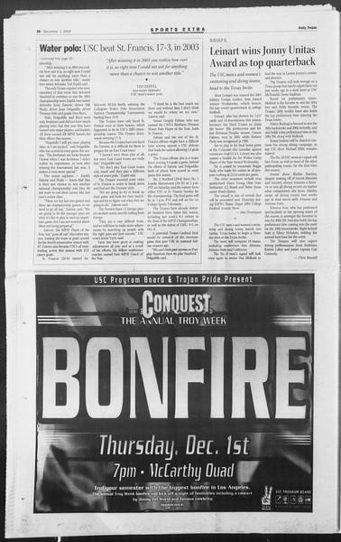Daily Trojan, Vol. 156, No. 67, December 01, 2005