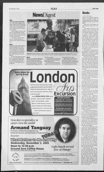 Daily Trojan, Vol. 156, No. 51, November 02, 2005