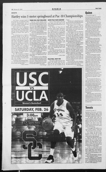 Daily Trojan, Vol. 154, No. 30, February 25, 2005