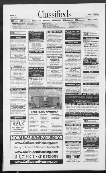 Daily Trojan, Vol. 154, No. 43, March 25, 2005