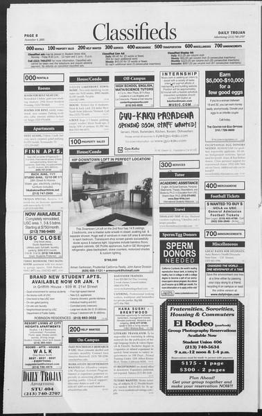 Daily Trojan, Vol. 156, No. 53, November 04, 2005