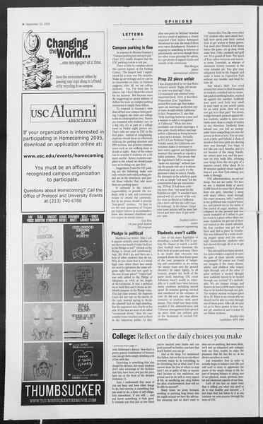 Daily Trojan, Vol. 156, No. 22, September 22, 2005