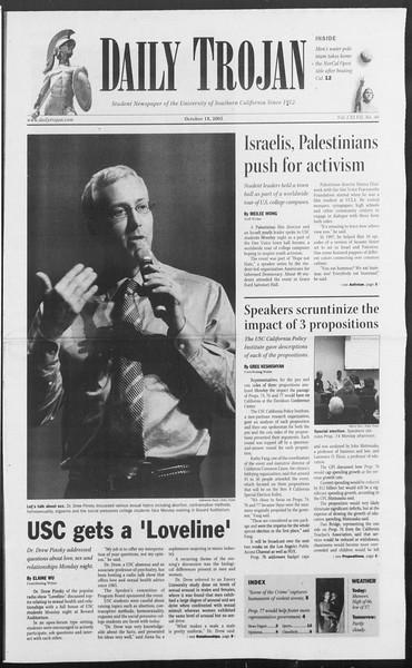 Daily Trojan, Vol. 156, No. 40, October 18, 2005