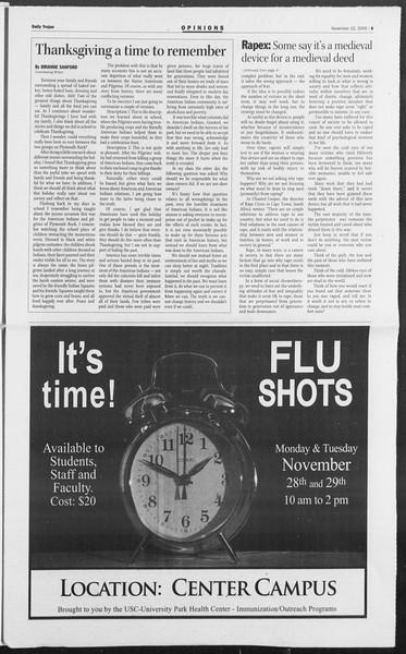 Daily Trojan, Vol. 156, No. 64, November 22, 2005