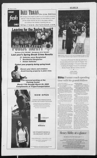 Daily Trojan, Vol. 154, No. 38, March 09, 2005