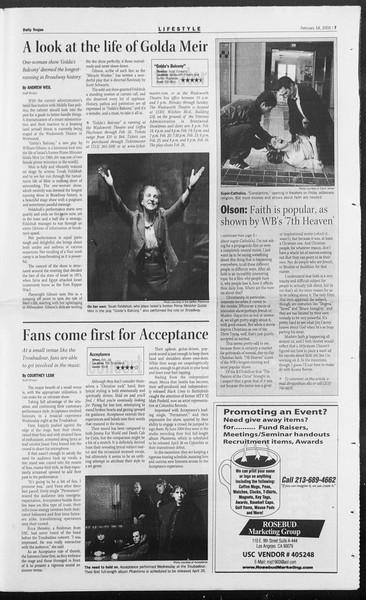 Daily Trojan, Vol. 154, No. 27, February 18, 2005