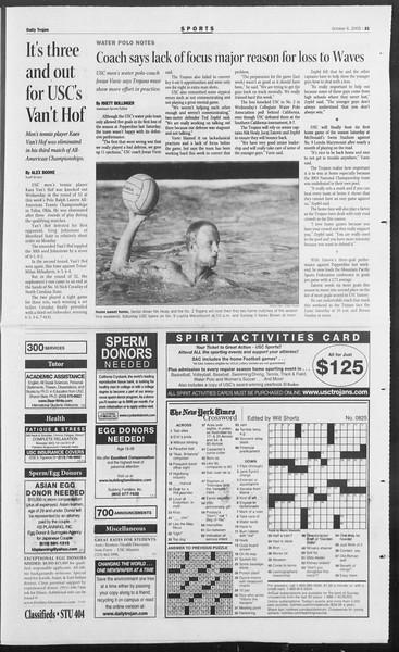Daily Trojan, Vol. 156, No. 32, October 06, 2005
