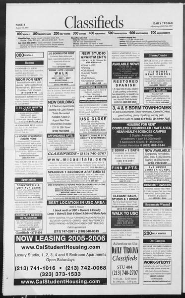 Daily Trojan, Vol. 156, No. 5, August 26, 2005