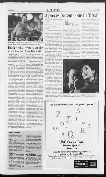 Daily Trojan, Vol. 154, No. 55, April 12, 2005