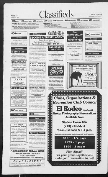 Daily Trojan, Vol. 156, No. 44, October 24, 2005