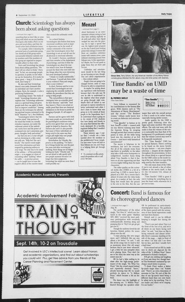 Daily Trojan, Vol. 156, No. 15, September 13, 2005