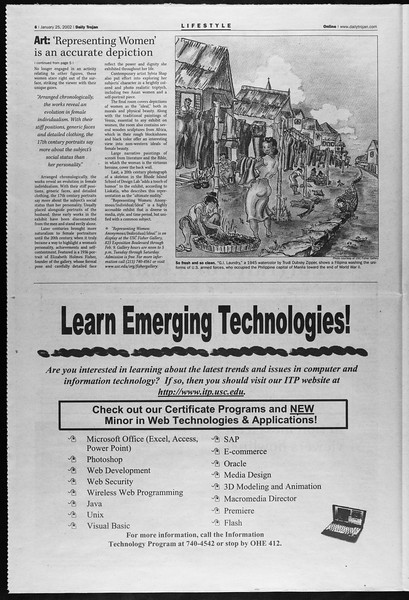 Daily Trojan, Vol. 145, No. 12, January 25, 2002