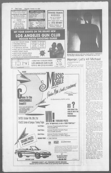 Daily Trojan, Vol. 110, No. 32, October 19, 1989
