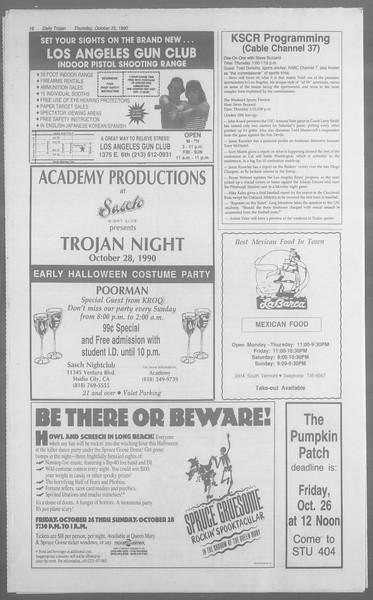 Daily Trojan, Vol. 113, No. 37, October 25, 1990