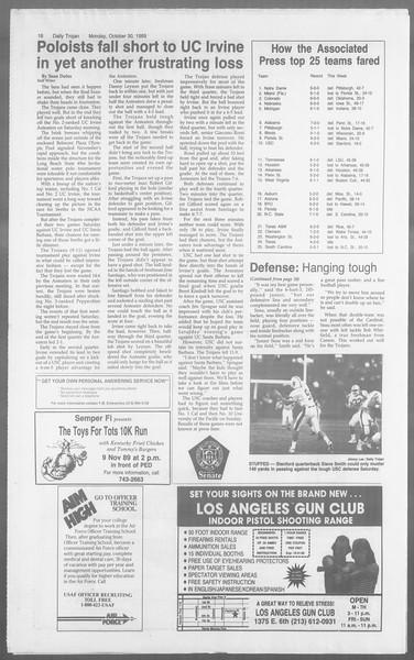 Daily Trojan, Vol. 110, No. 39, October 30, 1989