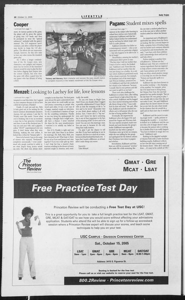 Daily Trojan, Vol. 156, No. 35, October 11, 2005