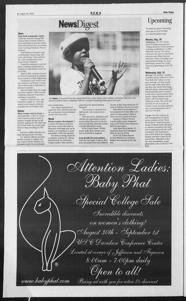 Daily Trojan, Vol. 156, No. 6, August 29, 2005