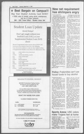 Daily Trojan, Vol. 110, No. 5, September 11, 1989
