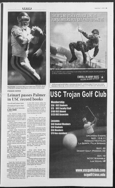 Daily Trojan, Vol. 156, No. 11, September 07, 2005