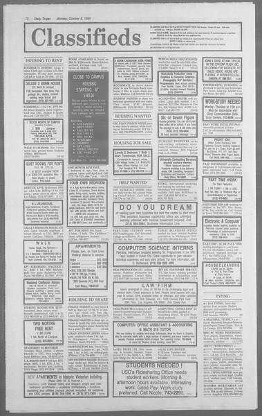 Daily Trojan, Vol. 113, No. 25, October 08, 1990