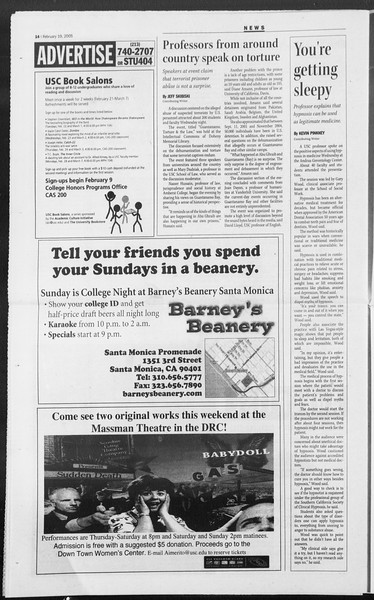 Daily Trojan, Vol. 154, No. 21, February 10, 2005