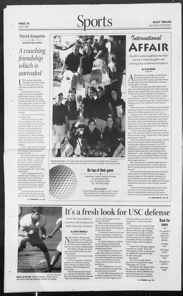Daily Trojan, Vol. 154, No. 52, April 07, 2005
