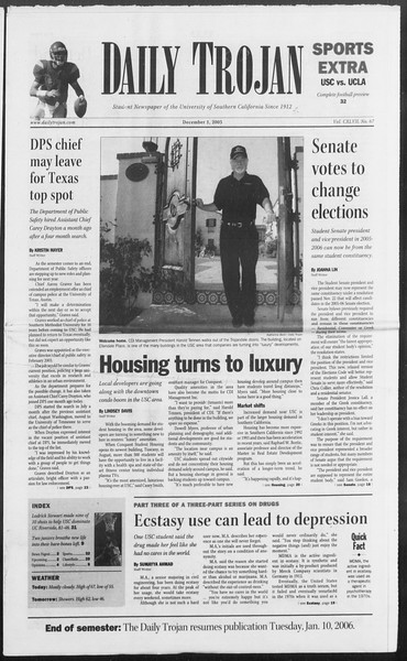 Daily Trojan, Vol. 156, No. 67, December 01, 2005