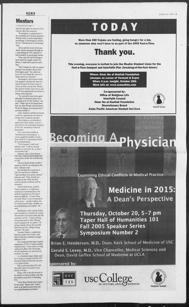 Daily Trojan, Vol. 156, No. 42, October 20, 2005