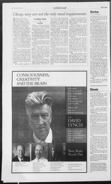 Daily Trojan, Vol. 156, No. 48, October 28, 2005
