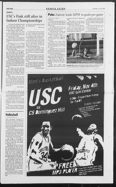 Daily Trojan, Vol. 156, No. 53, November 04, 2005