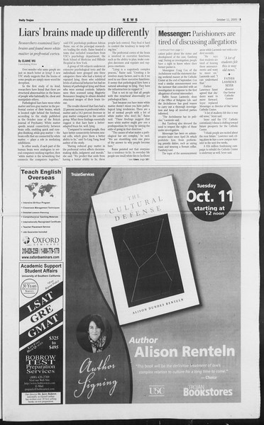 Daily Trojan, Vol. 156, No. 35, October 11, 2005