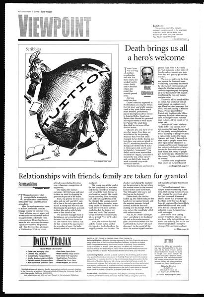 Daily Trojan, Vol. 138, No. 4, September 02, 1999