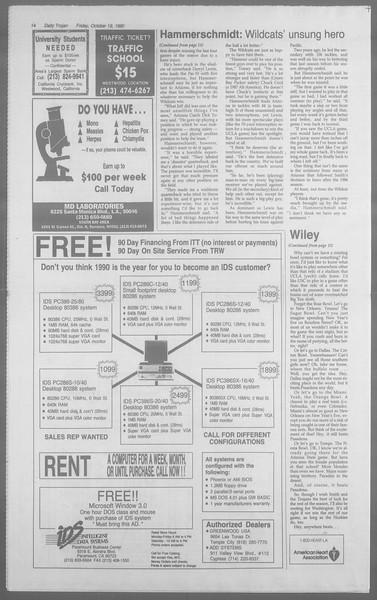 Daily Trojan, Vol. 113, No. 33, October 19, 1990