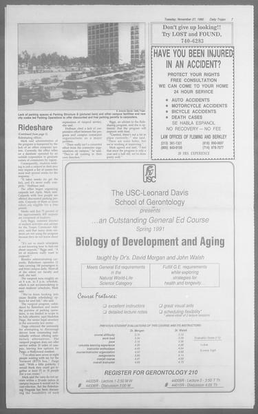 Daily Trojan, Vol. 113, No. 57, November 27, 1990